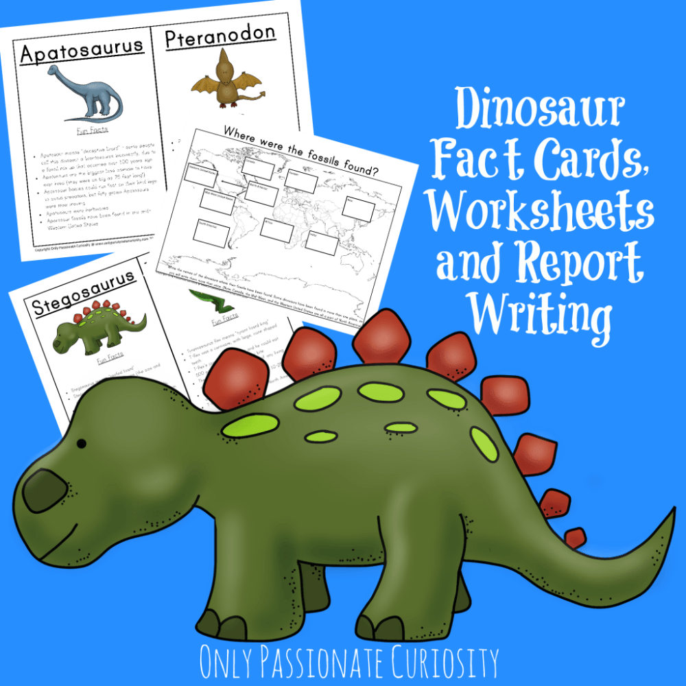 medium resolution of Dinosaur Unit Study: Fact Cards and Dino Reports - Only Passionate Curiosity
