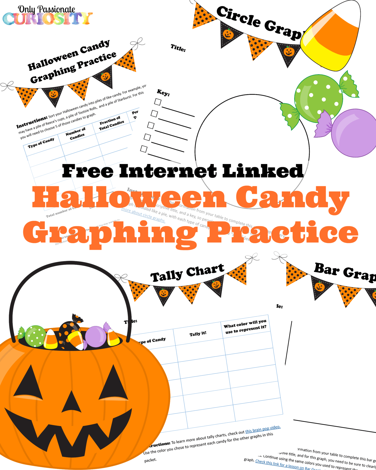 Halloween Candy Graphing Practice Free Printable