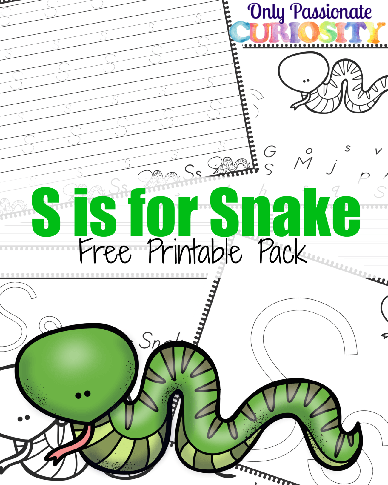 S Is For Snake Handwriting Activity Pack
