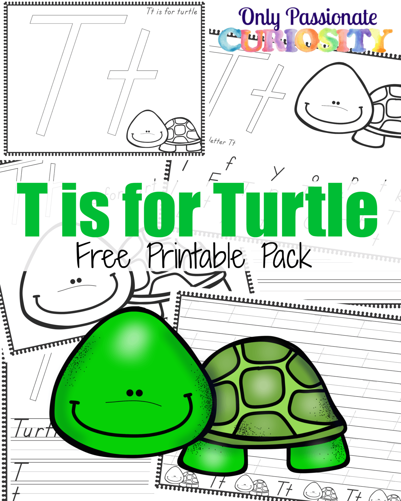 T Is For Turtle Handwriting Activity Pack
