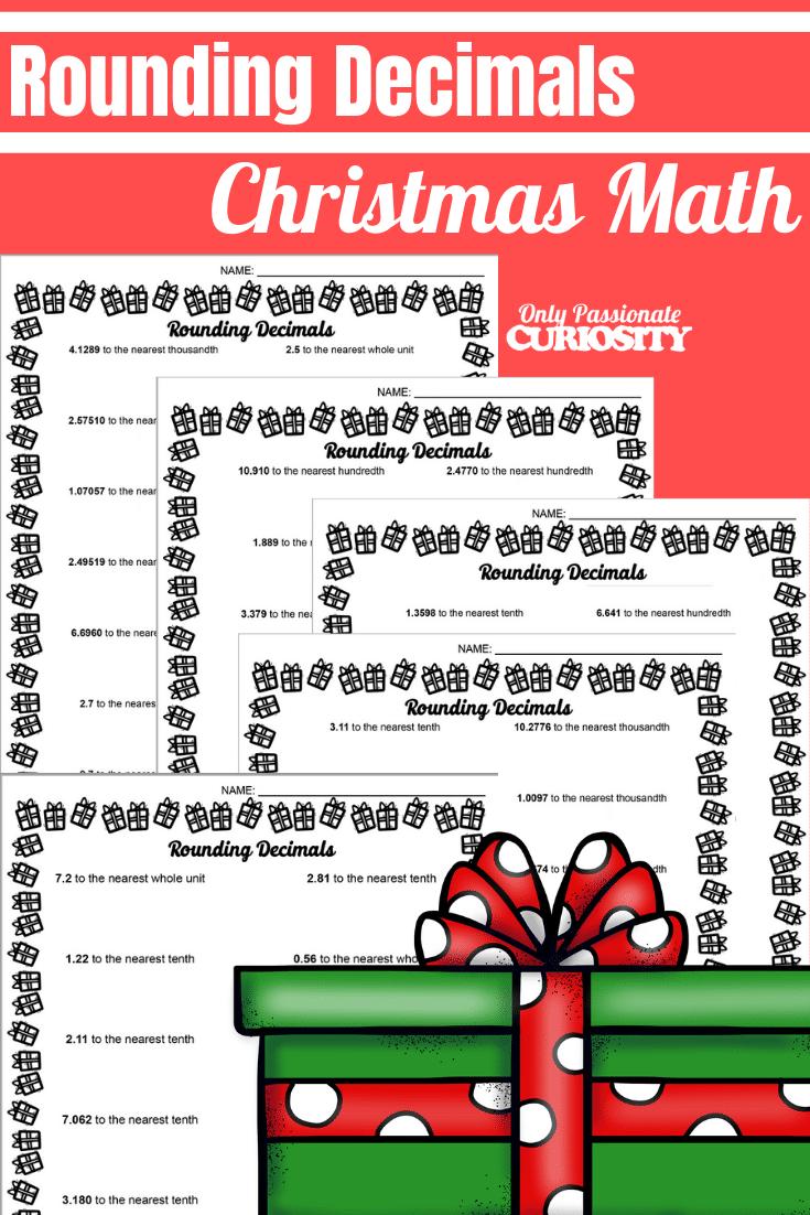 medium resolution of Christmas Math - Rounding Decimals - Only Passionate Curiosity