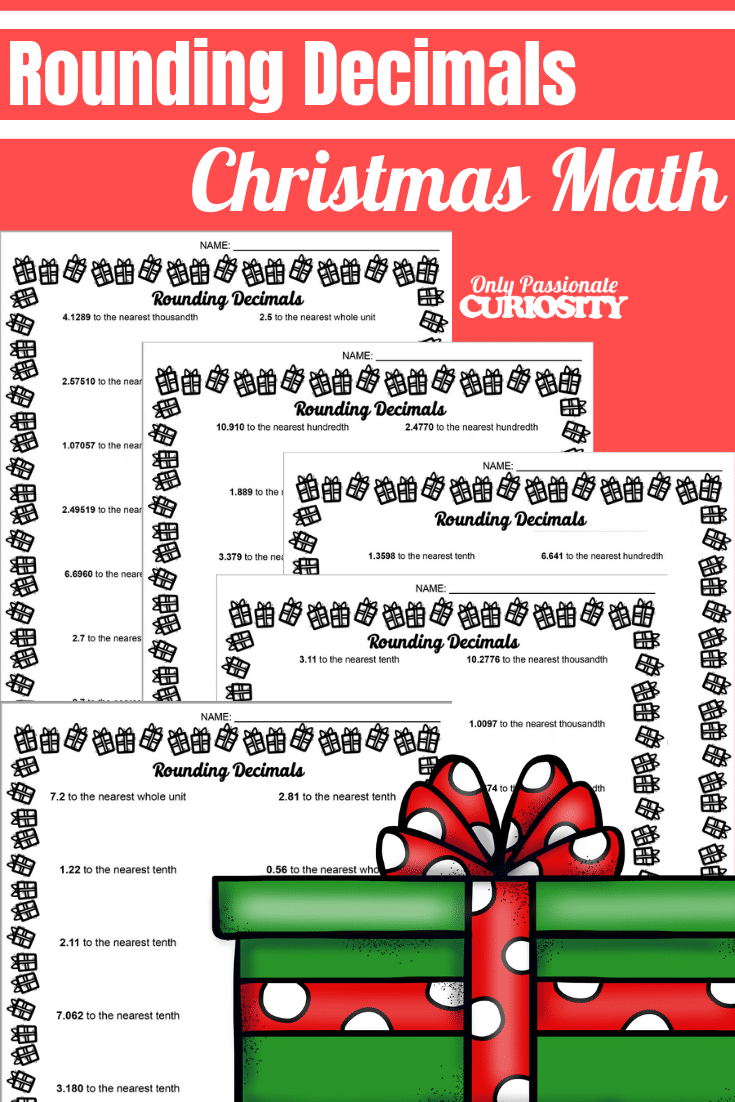 hight resolution of Christmas Math - Rounding Decimals - Only Passionate Curiosity