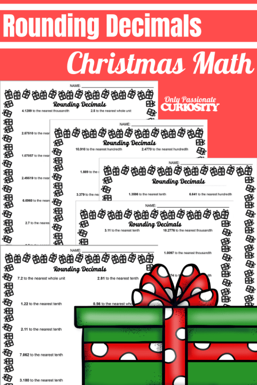 small resolution of Christmas Math - Rounding Decimals - Only Passionate Curiosity