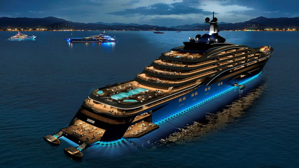 World's biggest superyacht envisaged with a $600m plan.