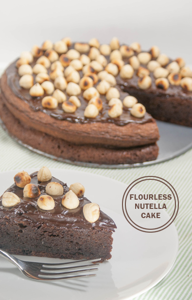 #Flourless Nutella #Cake. And what is better than #Nutella? Visit OnlyTasteMatters.com for the full #recipe. #dessert #baking #glutenfree