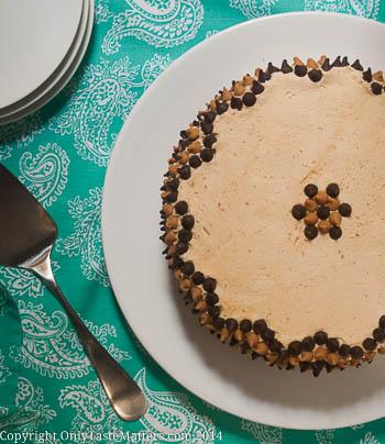 #Banana #ChocolateChip Cake with #PeanutButter Frosting. #GlutenFreeBaking #ontheblog