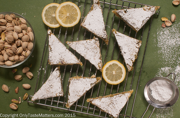 Take Pistachio Lemon Bars to your next gathering. They are always a hit and these happen to be gluten free!
