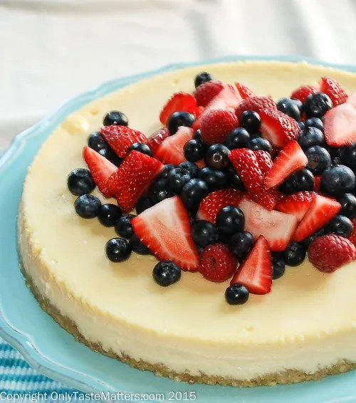 Chef Melanie Underwood's New York Style Cheesecake With a Ground Almond Crust