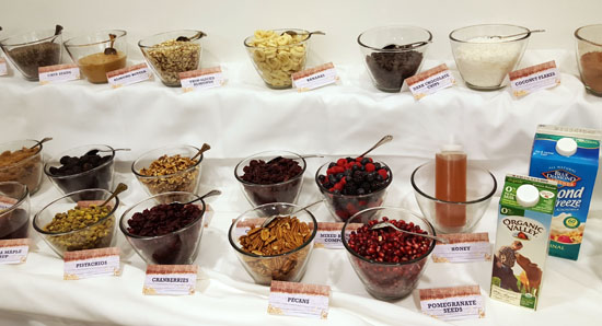 Oatmeal bar at the Quaker Summit
