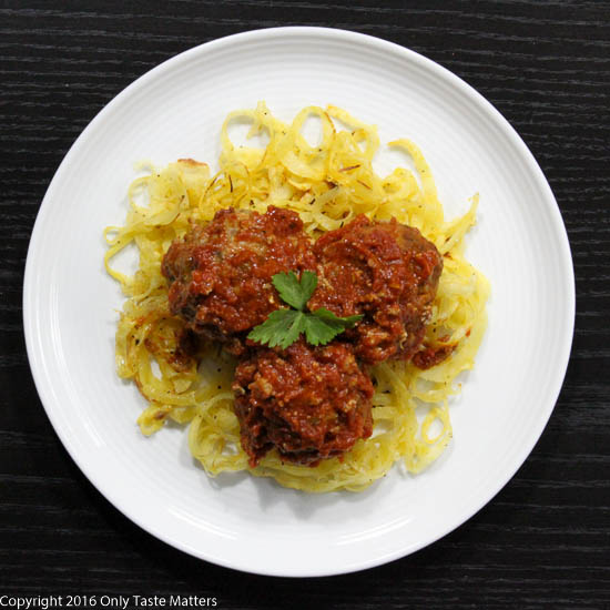 Paleo Italian Meatballs and Spaghetti | Only Taste Matters