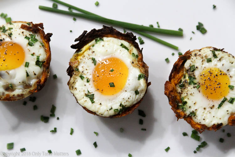 Paleo Sweet Potato Hash Brown Egg Cups | Only Taste Matters