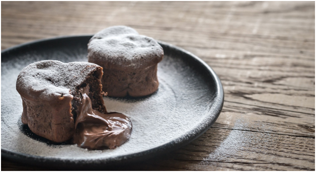 Paleo Lava Cake with Molten Chocolate | Only Taste Matters