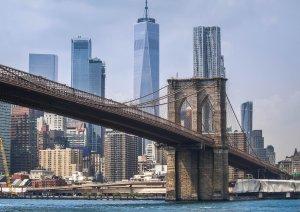 World Trade Center water view Brooklyn Bridge
