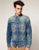 Diesel Rooby Zip Denim Shirt cant be trsuted