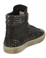 Ash Skull & Tack Studded High Top 1