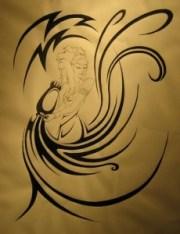 cool aquarius tribal tattoo
