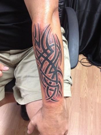 Forearm Simple Tribal Tattoos