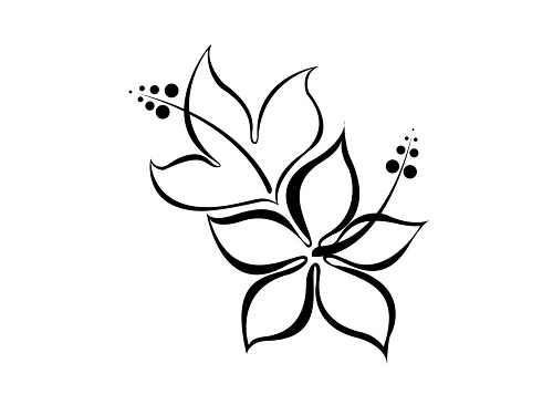 22 Amazing Tribal Flower Tattoos