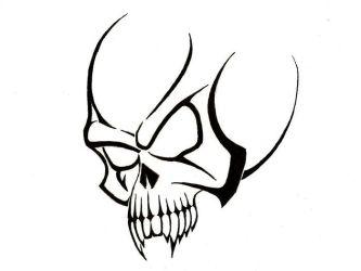 skull tribal tattoos simple cool