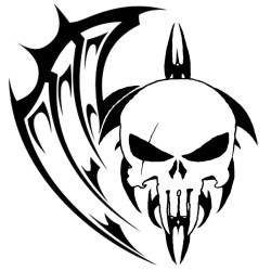 tattoo tribal designs skull tattoos drawing aztec cool punisher drawings solid skulls colour getdrawings stencil outstanding sample butterfly deviantart