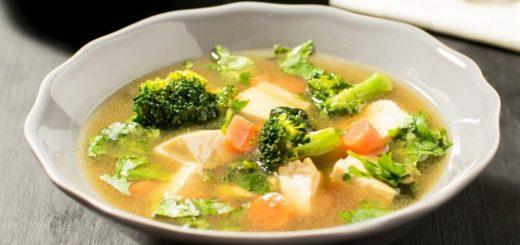 Овощной суп с тофу