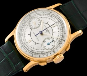 """Patek Philippe """"The yellow gold ref. 130 retailed by Walser Wald"""" 1"""