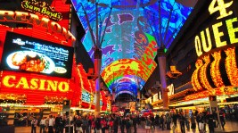 If old Las Vegas is what you seek, head to downtown's Fremont Street Experience. Featuring zip lines, light shows and some of the most iconic casinos, Fremont Street is a buffet for the senses. Photo credit: Bill Gracey