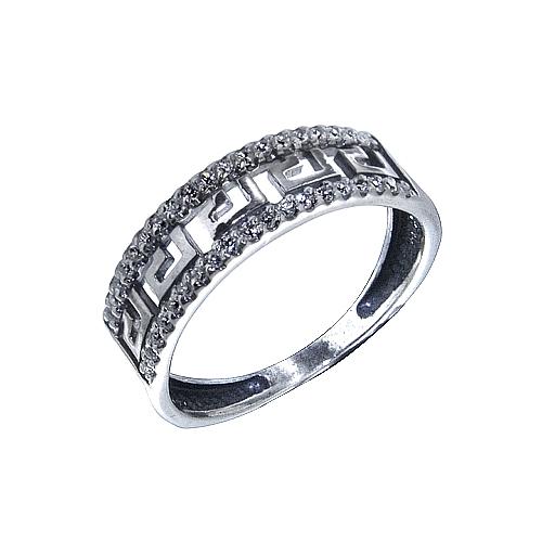 Greek Pattern Sterling Silver ring Onlyway Jewelry