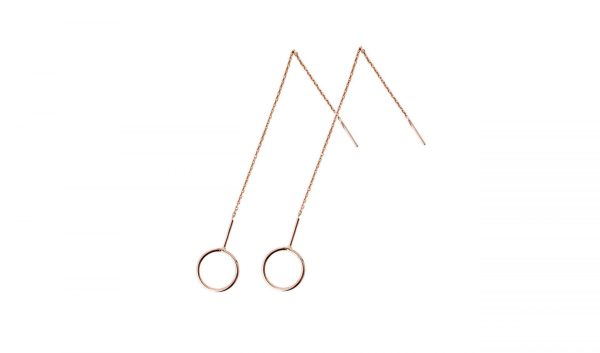 Ring Pull Through Earrings Rose Gold Onlyway Jewelry