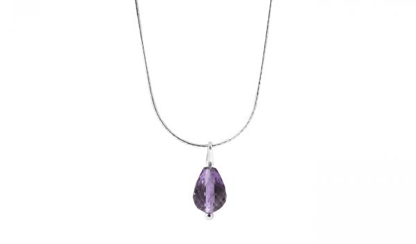 amethyst drop sterling silver onlyway jewelry