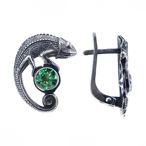 Chameleon Silver Earrings Onlyway Jewelry