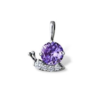 Jolly Snail Pendant Sterling silver 925 Cubic Zirconia Stones Onlyway Jewelry