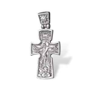 Religious Crucifix Cross Pendant Sterling Silver