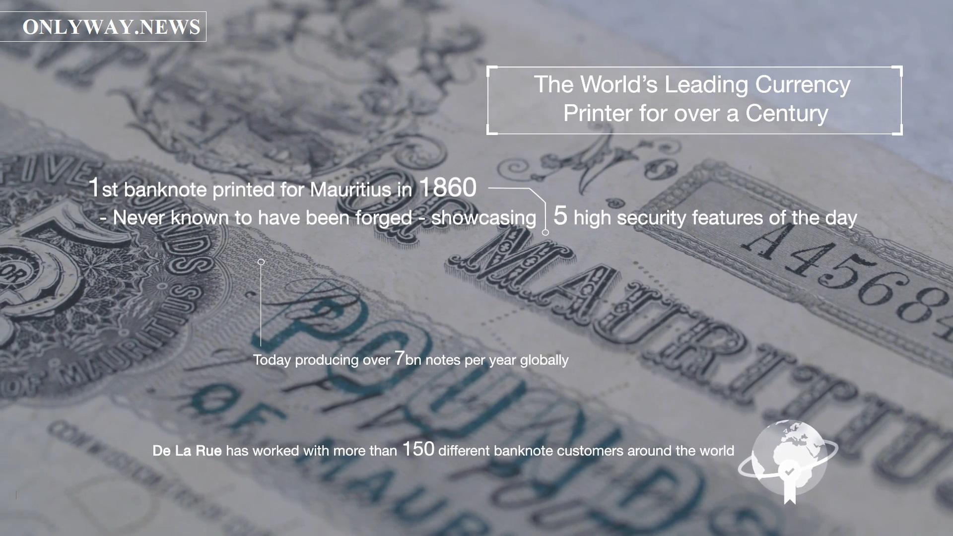 Established over 200 years ago, De La Rue work with governments, central banks and commercial organisations