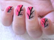 cute nail art design short