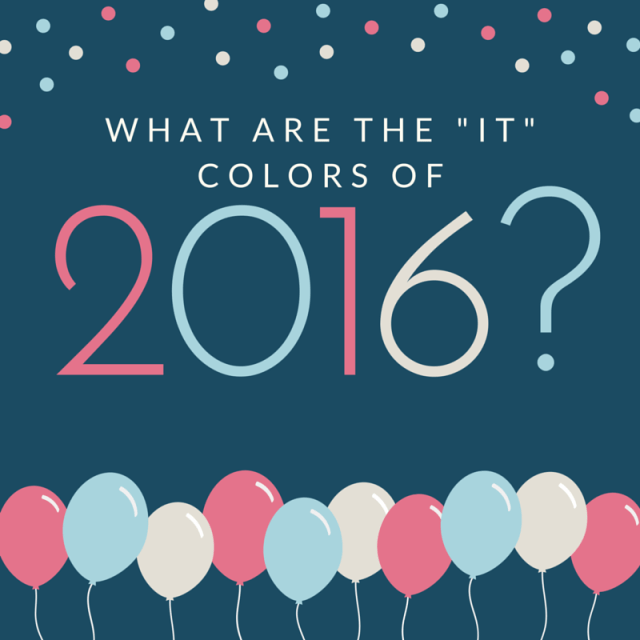 The -It- Colors of 2016
