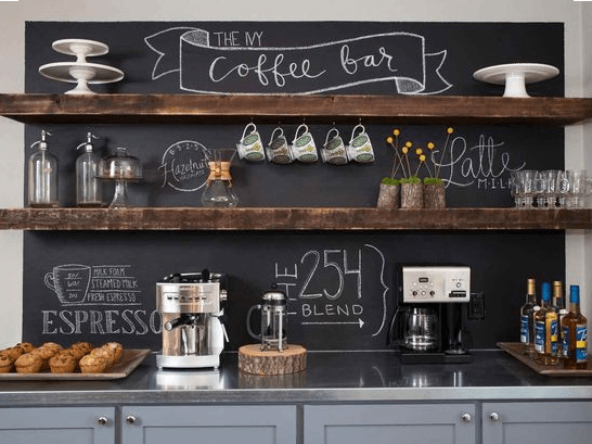 chalkboard coffee bar