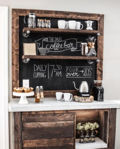 rustic coffee bar