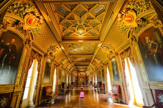 intérieur du château de Maintenon blog