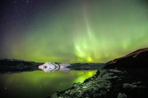 Aurores boréales Islande - Jokulsarlon