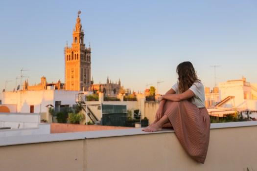vue sur la Giralda Séville tourisme blog