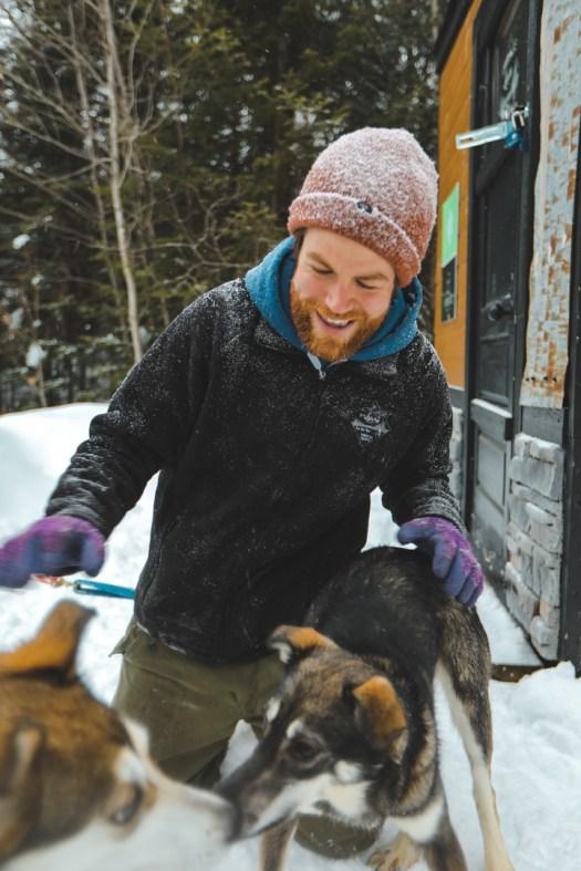 Attelage de la lièvre dans l'Outaouais au Québec
