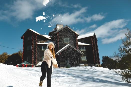 château de Montebello au Québec en hiver