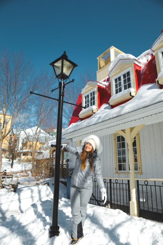Station du Mont Tremblant sous la neige en hiver