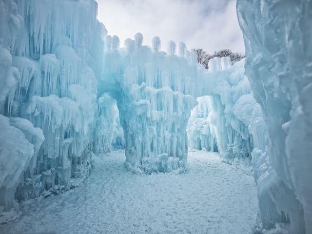ice castle wonderland in