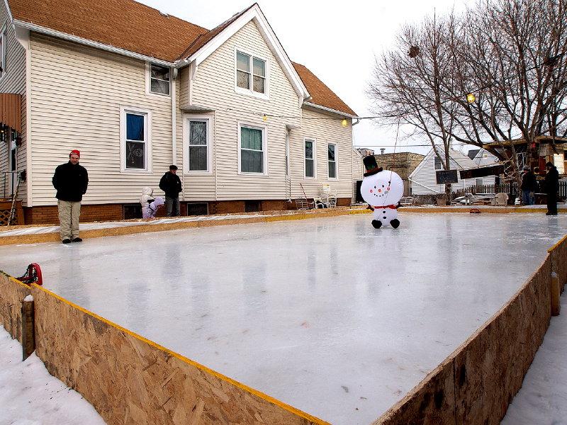 DIY ice rinks rally families neighbors  OnMilwaukee