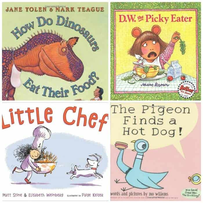 Book covers for four children's books