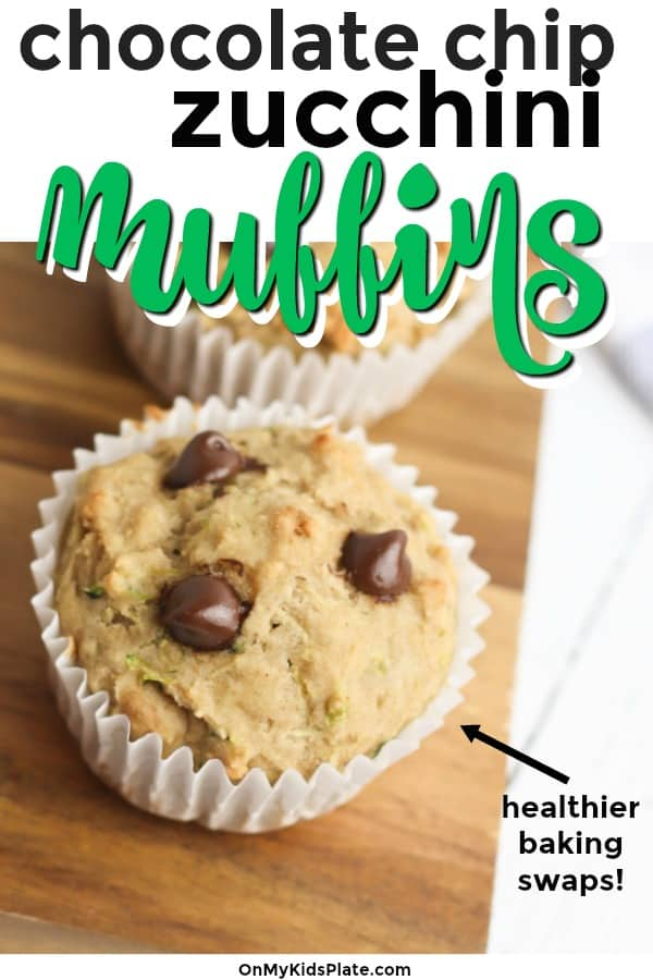 A muffin on a cutting board with text title overlay