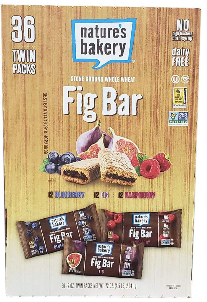 A box of fig snack bars from Nature\'s Bakery