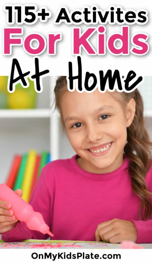 A little girl holding a paint pen with text title overlay